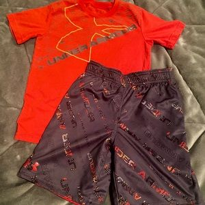 Under Armor Short and Matching Tee! Excellent 7